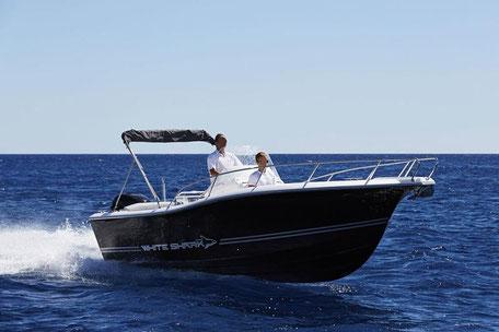 Louer un bateau White Shark 205 avec un 150 cv Yamaha chez Mistral plaisance Location au départ du Lavandou