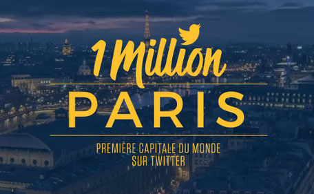 paris, twitter, million, followers,
