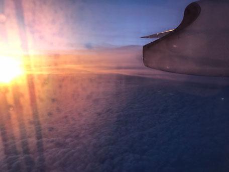 Schöner Ausblick beim Sonnenuntergang