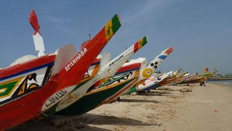 Pirogues, village de pêcheurs de Djifer, Sénégal