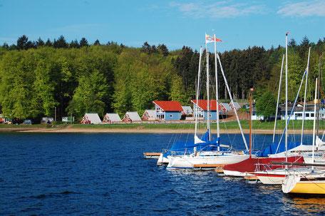 Beautiful Swedish lodges by the waterside