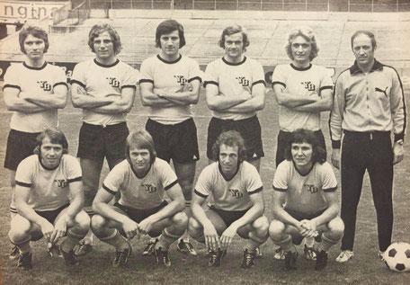 YB Kader 1973/1974 Schmocker, Bruttin, Schild, Anderson, Vögeli, Kurt Lindner, Heinz Rebmann, Trümpler, Brechbühl, Seppi Küttel