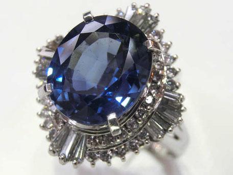 サファイヤダイヤリング プラチナ