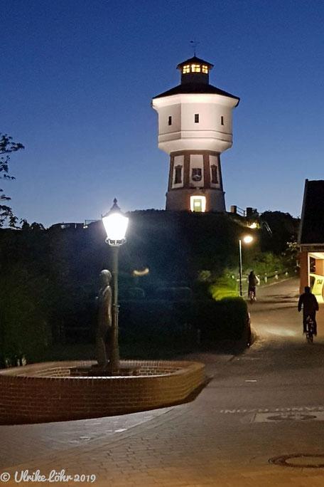 Wasserturm bei Nacht auf Langeoog
