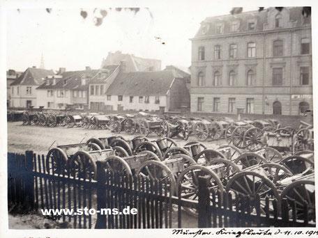 Blick von der Promenade auf die Münzstraße