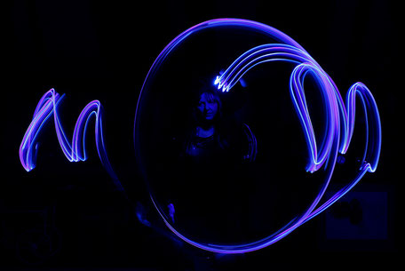 Bild: Lightpainting mit LEDs