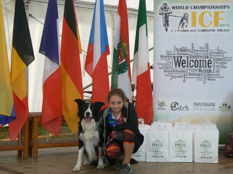 Clémentine Billion et H'Zeus ont participaient pour la première fois aux Championnats du Monde de Canicross.