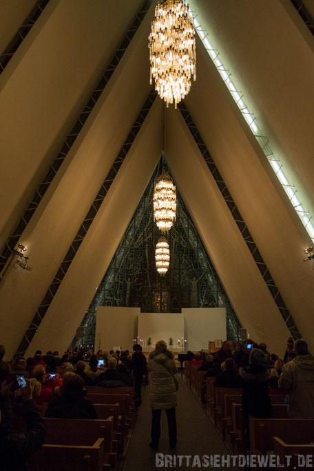 Tromsø,Eismeerkathedrale,Konzert,Tipp,Hurtigruten,MS,Midnatsol,Postschiff,November,Winter