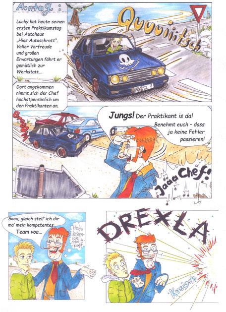 Comic Werkstatthelden