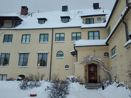 Das Gästeheim in Vadstena im Winter