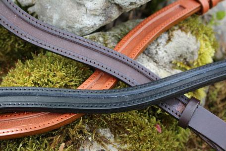 Vegetabile gegerbtes Leder aus Europa, welches der EU-Chemikalienverordnung REACH entspricht, PCP-frei ist und keine AZO-Farbstoffe und Chrom-VI-Verbindungen enthält. Umweltbewusst Umweltverträglich