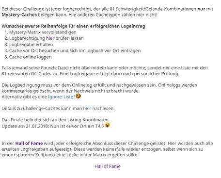 Auszug aus dem Listing der Challenge