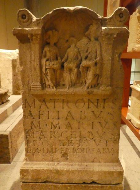 Weihinschrift für Matronen (141 - 200 n. Chr./Foto: Archiv Willms)