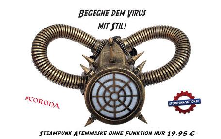 Steampunk Atemschutz Corona Maske