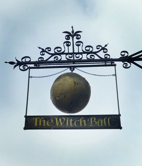 witch ball, thame, silk mercer, golden ball, old pub signs, old street signs, british signs,