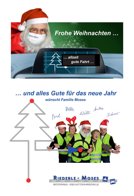 Weihnachtsgrüsse vom Fahrschulteam