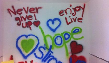 Wandbild auf der Kinderonkostation Innsbruck