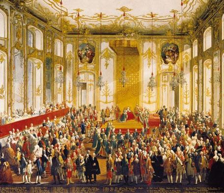 Abbildung eines Barocken Festes in Wien