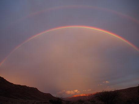 Arc-en-ciel ; Naukluft ; Namibie. Culture Maxime Lelièvre