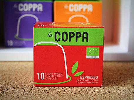LaCoppa Espresso - pflanzenbasierte, kompostierbare Kaffeekapseln