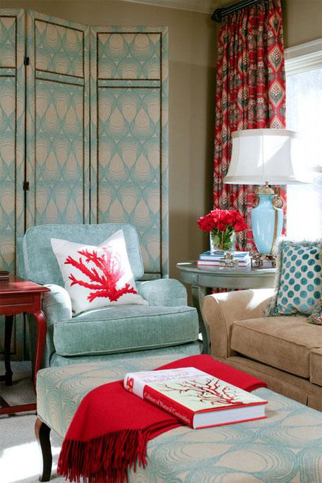 Rojo y azul par decorar tu hogar