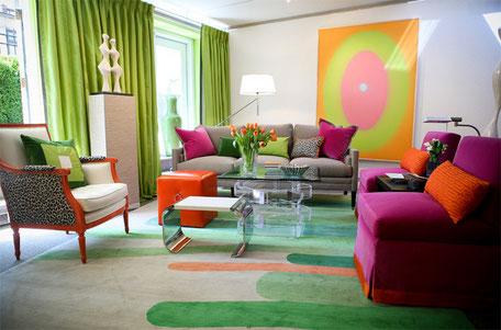 Colores flúor en la decoración del hogar