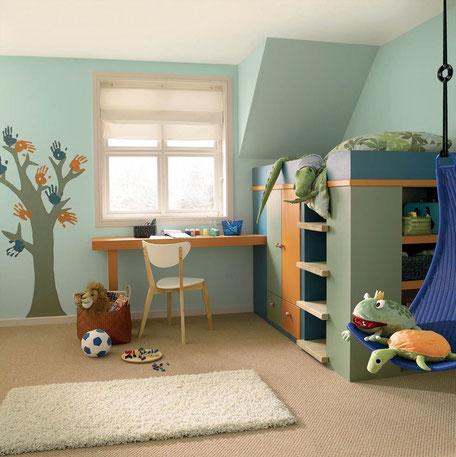 Colores naranja y verde para decorar tu hogar