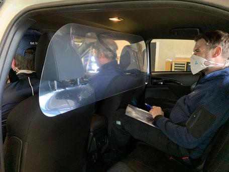 Sodermanns Corona Trennwand Schutzwans Fahrdienste Taxis Fahrschulen Personenbeförderung
