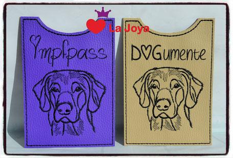 Impfpasshülle Hunde Impfpasshülle für Hunde Impfpass Einsteckhülle Hunde