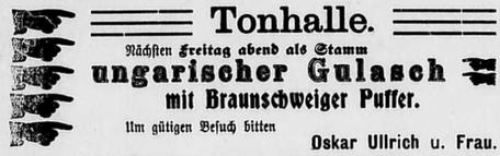 Anzeige in der Burkhardtsdorfer Zeitung vom 23. 1. 1909