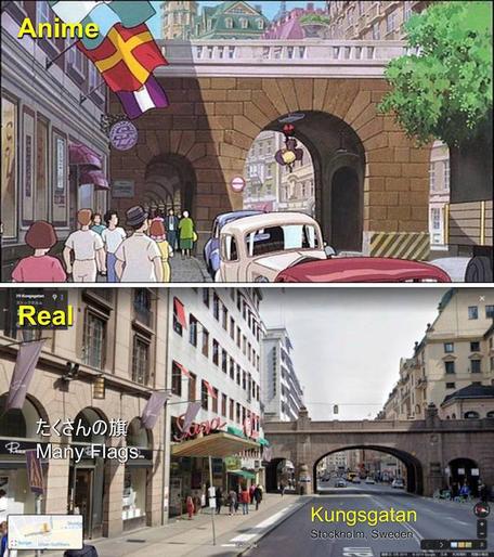 """魔女の宅急便、ストックホルムのトンネル Stockholm, Sweden on """"Kiki's Delivery Service"""""""