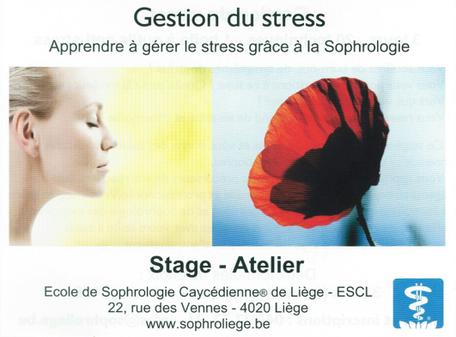 Formation gestion du stres à l'école de sophrologie de Liège