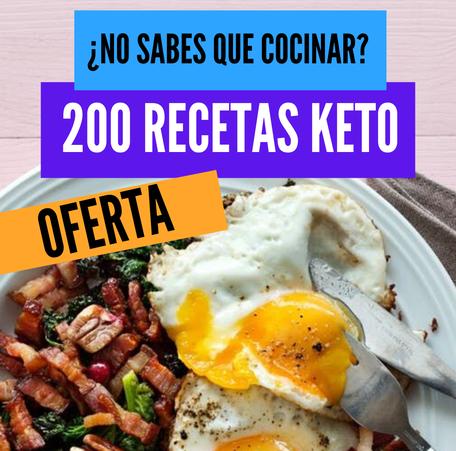 200 Recetas Keto te ayudará a tener más opciones a la hora de preparar tus alimentos para la dieta