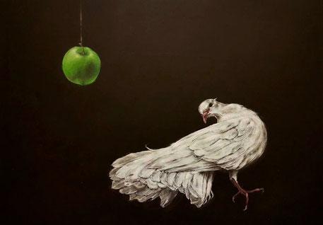 Vogelbildnis     0,60 x 0,40 m     Acryl auf Leinwand  /  acrylic on canvas