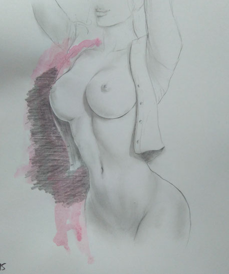 erotic nude drawing