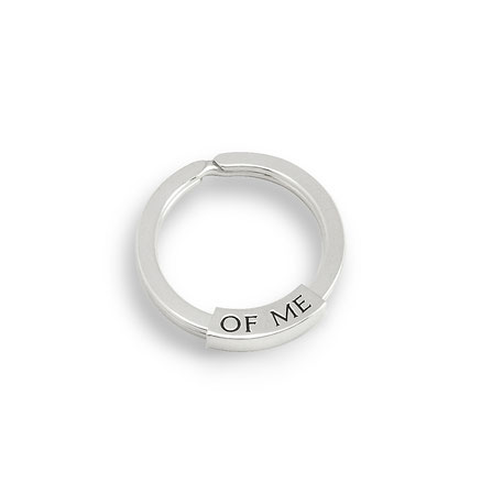 """silberner Schlüsselring mit Text """"think of me"""" """"denke an mich"""" silver keyring with text"""
