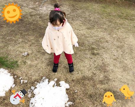 相内逢花 ブログ 写真 雪だるま