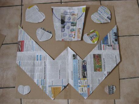 Vorlage Mosaik selbst entwerfen Familienwappen