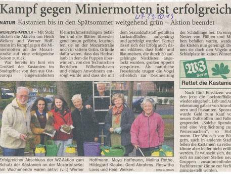 Wilhelmshavener Zeitung v. 29.10.2014