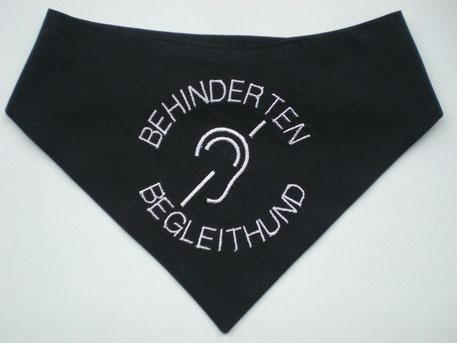 Halstuch für Behinderten Begleithund Gehoerlos