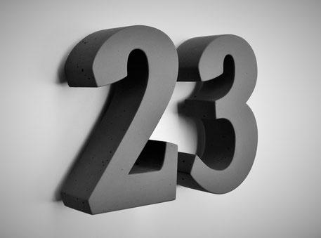 Hausnummer Beton Betonhausnummer