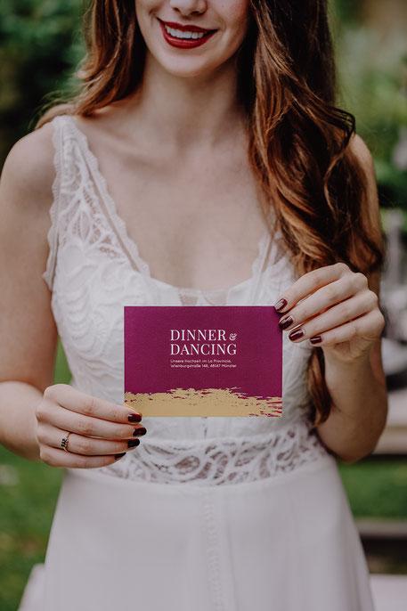 L´Art du Mariage – Agentur für Hochzeitsplanung | Save-the-Date-Karte