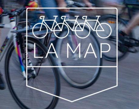 Logo La Map, newsletter sur le vélo