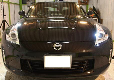 Z34黒の磨き・コーティング完成 スクラッチシールド 濃色車 ボディコーティング 所沢 三芳 ふじみ野