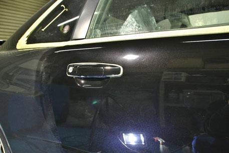 BNR34Mスペックのドアの傷消し 埼玉 スカイラインGT‐R R34のガラスコーティング
