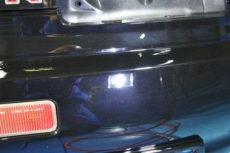 GT‐Rの磨き コーティング 傷消し 越谷 川越 川口 上尾 世田谷 リアバンパーの研磨