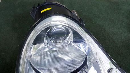 ポルシェ996ターボ ヘッドライトの黄ばみ除去 ひび 埼玉三芳の車磨き専門店 所沢 川越