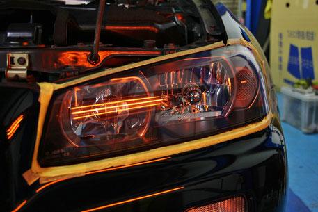 GT‐R ヘッドライトの黄ばみ 狭山 和光 坂戸 深谷 コーティング料金