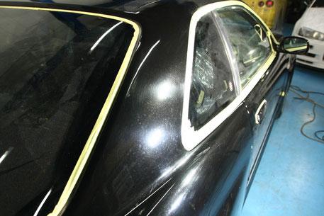BNR34Cピラーの傷・染み 塗装の劣化・色褪せ