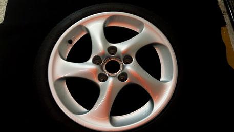 996ターボのホイールコーティング ブレーキダストの固着軽減 所沢 狭山 浦和 横浜 杉並